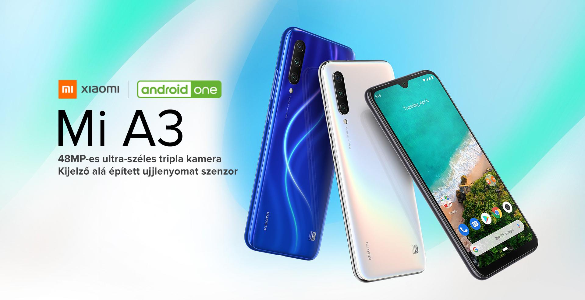 Xiaomi Mi A3 4GB/64GB (Dual SIM) kártyafüggetlen okostelefon, kék (Android) 01