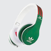 Monster-Adidas-over-ear-green-&-red-fülhallgató