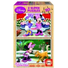 Educa Disney Minnie Mouse puzzle, drveni, 2x50 komada