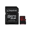 Kingston Secure Digital Micro 64GB Cl10 UHS-I U3 V30 A1 (100/80) Canvas React memóriakártya (SDCR/64GB) + SD adapter