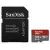SanDisk Ultra Android microSDXC 128GB + SD Adapter + Memory Zone App 100MB/s A1 Class 10 UHS-I