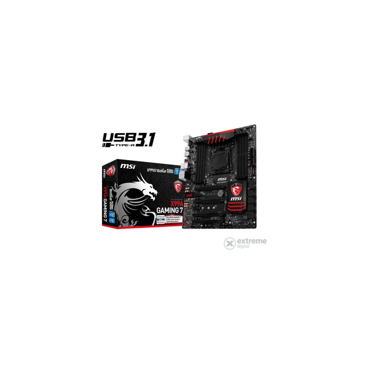 MSI X99A GAMING 7 Intel X99 LGA2011 ATX alaplap