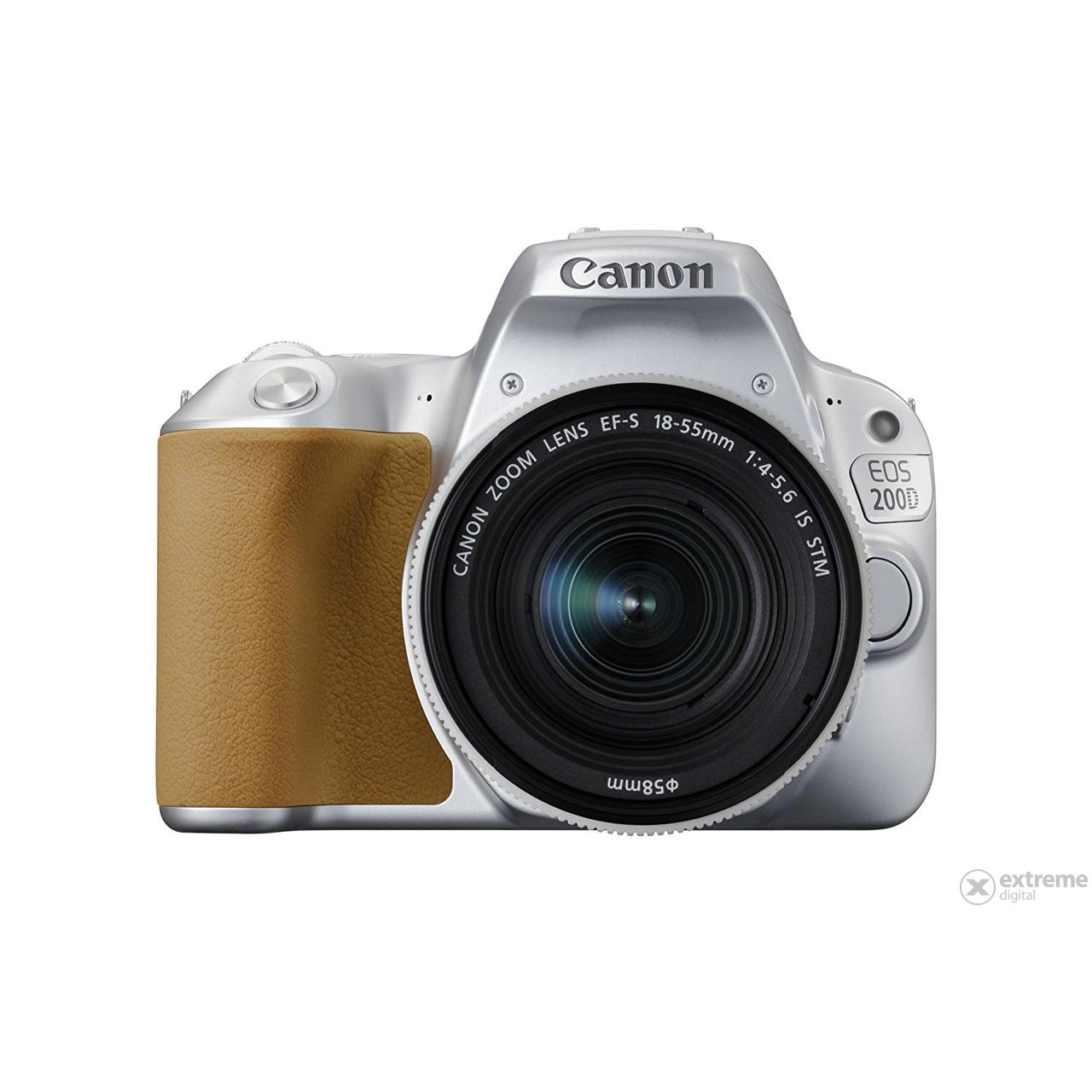 Canon Eos 200d Kamera Kit Mit Ef 18 55mm Is Stm Objektiv Silber 800d 135mm Paket