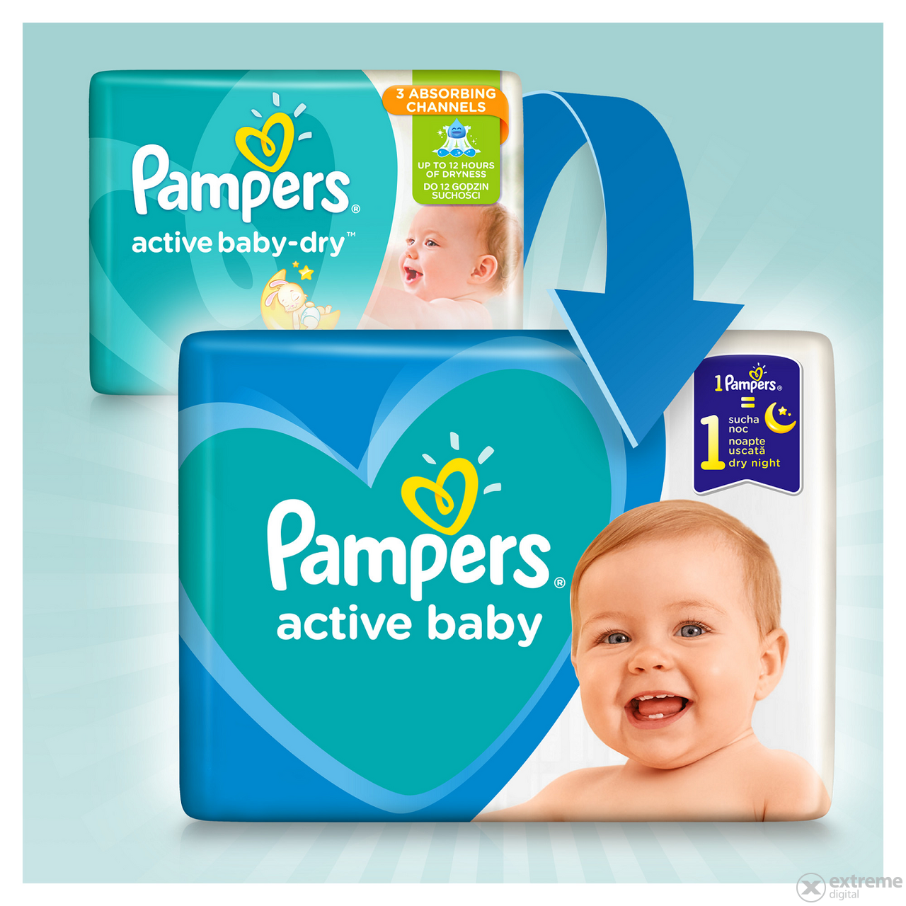 Scutece Pampers Active Baby Monthly Box, marime 5, 150 bucati
