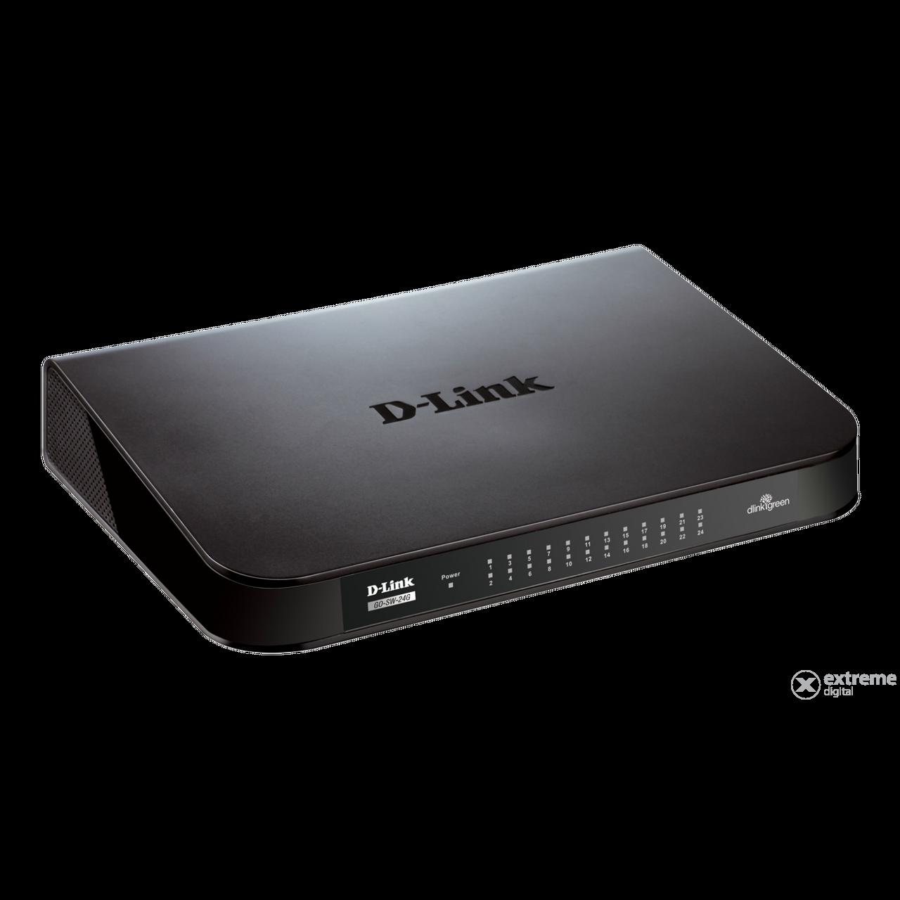 D Link Go Sw 24g 24 Port Gigabit Tisch Switch Extreme Digital Tp 10 100 1000 Mbps Sg1024d