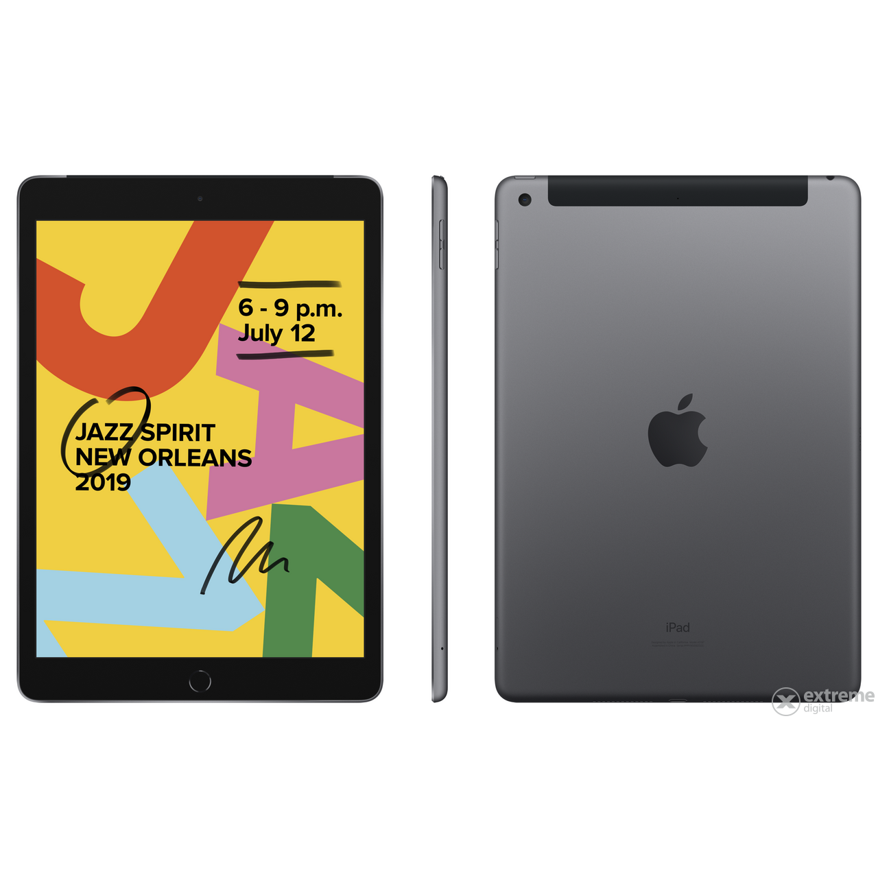 "Apple iPad 7 (2019) 10.2"" Wi-Fi + Cellular 32GB, space gray (mw6a2hc/a)"
