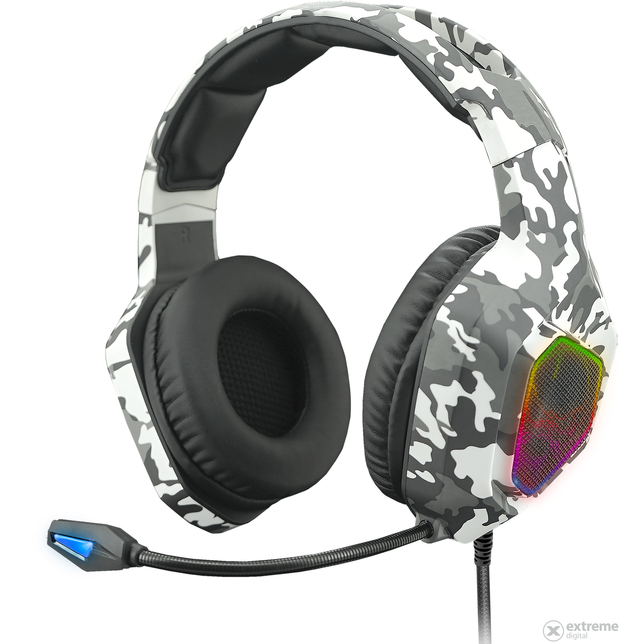 Spirit of Gamer Elite H50 Arctic RGB gamer fejhallgató