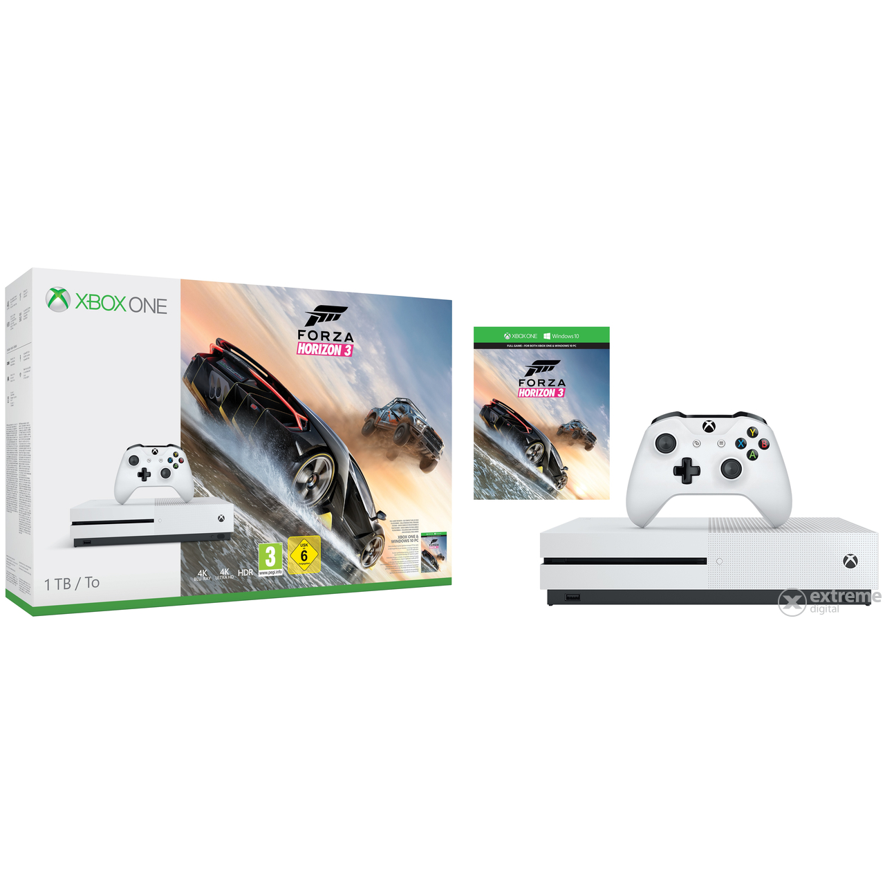 consola xbox one s 1tb forza horizon 3 extreme digital. Black Bedroom Furniture Sets. Home Design Ideas