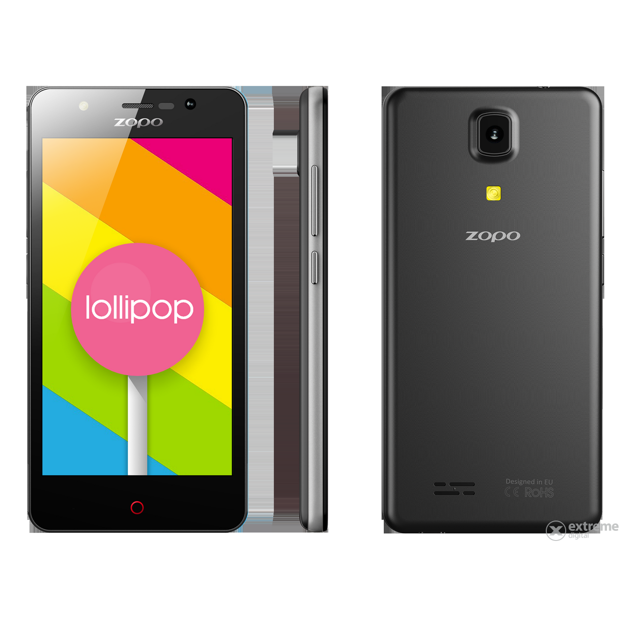 Мобилен телефон Zopo Color C (Dual SIM), Black (Android)