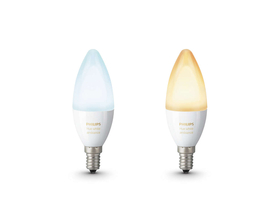 Bec inteligent Philips hue White Ambiance 6W E14 alb, 2 buc.