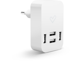 Incarcator cu USB Energy Home Charger 4.0A Quad USB, alb