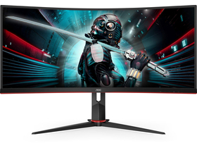 "AOC CU34G2X/BK 34""  WQHD VA 144hz gamer LED monitor"