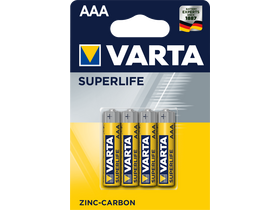 Varta Superlife R03 AAA микро карбон цинкова батерия, 4бр