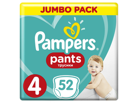 Pampers Pants Jumbo Pack 4, 52 bucati