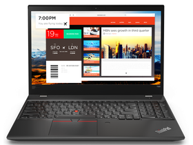 Notebook Lenovo ThinkPad T580 20L90043HV, negru + Windows 10 Pro (tastatura layout HU)