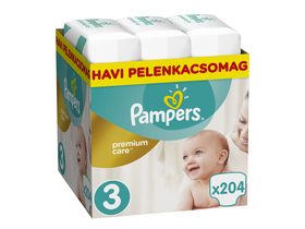Pampers Premium Care pelenka Monthly Box 3 midi, 204 db - [Bontott]
