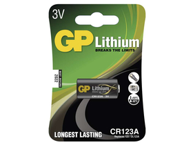 GP CR123A lítium elem 1 db