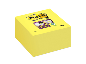 3M Post-it® Öntapadó jegyzettömb, 350 lap, 76x76 mm, `Super Sticky`, sárga