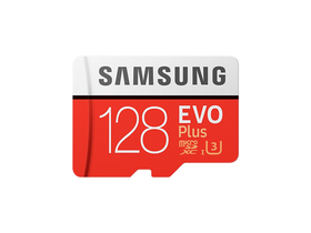 Samsung EVO Plus 128GB microSDXC UHS-I U3 100MB/s Full HD & 4K UHD Memóriakártya adapterrel (MB-MC128GA)