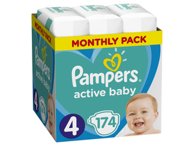 Pampers Active Baby pelene Monthly Box, veličina 4, 174 kom.