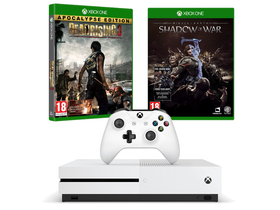 Microsoft Xbox One S 1TB+ Shadow of War + Dead Rising 3