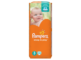 Pampers Sleep & Play Einwegwindel 3 Midi, 58 Stk.