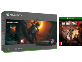 Microsoft Xbox One X 1TB igralna konzola + Shadow of the Tomb Raider + Dead Rising 4 igralni sofver