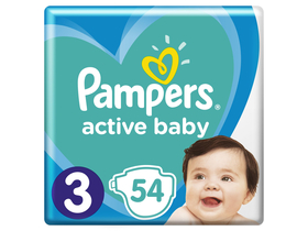 Pampers Active Baby pelenka, 3-as méret, 54 db