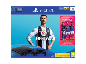 PlayStation® PS4 Slim 1TB  2 controllere Dualshock 4  +  joc FIFA 19