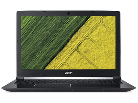 Acer Aspire 7 A717-72G-71BR NH.GXDEU.003 notebook, fekete + Linux