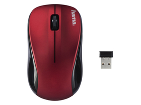 Hama 134939 AM-8100 wireless Maus, rot