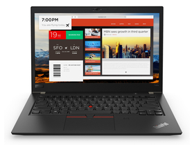 Notebook Lenovo ThinkPad T480s 20L70053HV, negru + Windows 10 Pro (tastatura layout HU)