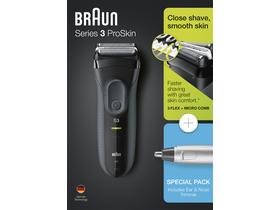 Braun 3 3000VS ProSkin borotva + Braun EN10 orr- és fülszőrnyíró 0c7ed8260e