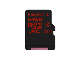 Kingston microSDHC karta 64GB Class3 + SD adapter