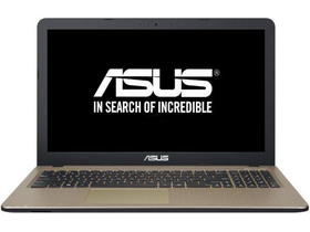 Asus X540SA-XX004D notebook, fekete + McAfee Internet Security