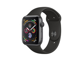 Apple Watch Series 4 GPS, 40mm, astrosivi sa crnim sportskim remenom