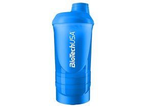 BioTech USA Wave+ Shaker 600ml (+200ml+150ml), tirkiz