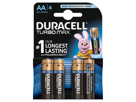 Baterie alcalina Duracell Turbo MAX, AA, 4 buc.