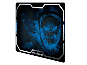 Spirit of Gamer Egérpad - SMOKEY SKULL Blue (430 x 320 x 3mm; kék)