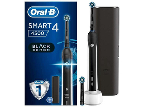 Oral-B SMART 4  4500  električna četkica sa  CrossAction sa  glavom, crna