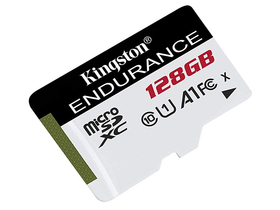 Kingston High Endurance 128GB microSDHC memóriakártya, Class 10, A1, UHS-I (SDCE/128GB)