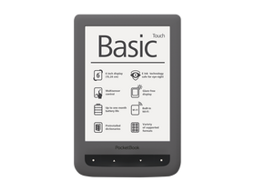 eBook четец PocketBook Basic Touch 624,сив