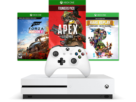 Microsoft Xbox One S 1TB konzola + Forza Horizon 4 + Apex Legends Founders Pack + Rare Replay hry