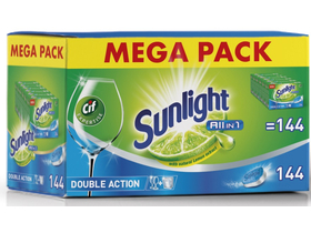 Sunlight All in 1 MEGA PACK tablety do myčky, 144 ks