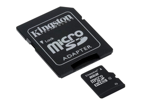 Kingston microSDHC Karte 8GB Class4 + SD Adapter