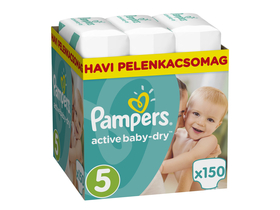 Pampers ActiveBaby Dry pelenka Monthly Box 5 junior, 150 db