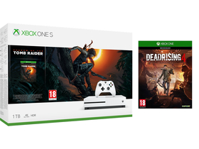 Microsoft Xbox One S 1TB Game Console +Shadow of the Tomb Raider + Dead Rising 4