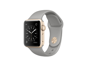 Apple Watch Series 2 auriu, curea sport gri beton, 38mm (mnp22mp/a)