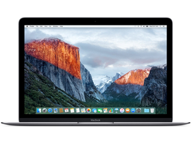 "Apple MacBook 12"" (2016) Core m5 1.2GHz,8GB,512GB,HD 515 (mlh82mg/a), asztroszürke"