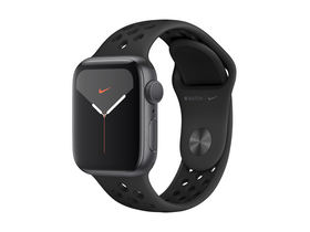 Apple Watch Nike Series 5 GPS, 44mm, Astro Grey, s antracit / černým Nike řemínkem